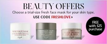 beauty offers choose a trial size fresh face mask for your skin type use