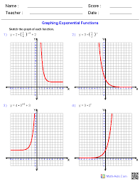 exponential and logarithmic functions algebra 2 worksheets