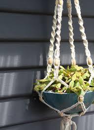 diy bohemian macrame plant hanger