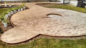 wood textured stamped concrete patio plymouth in wood stamped concrete patio66 patio