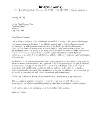 Administrative Assistant Cover Letter Examples Entry Level Cover