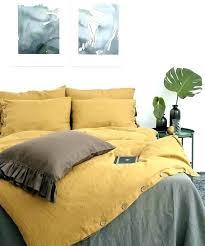 yellow duvet cover king mustard linen from super velvet poppy size
