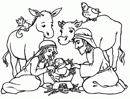 Small Picture Pictures Of Baby Jesus In A Manger Coloring Home