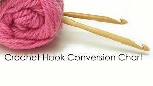 Crochet Hook Conversion Chart Metric Us Letter And Number