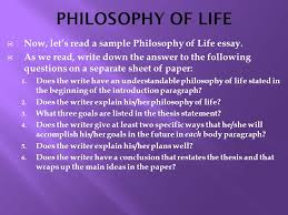 world literature nd ppt 14 philosophy of life now let s a sample philosophy of life essay