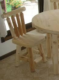 cedar dining chair log dining chair cedar creek furniture