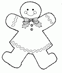 Small Picture free christmas coloring pages gingerbread man easy to color kids