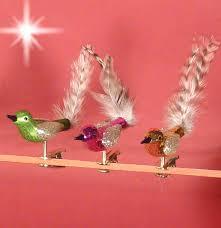 Details Zu 6er Set Christbaumschmuck Glas Bunt Kleine Vögel Vogel 6 Farben Lauscha Federn
