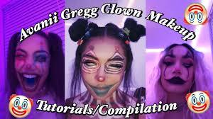 avanii gregg clown makeup tutorial