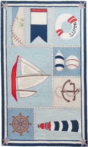 toss beach decor area rug ship shape by cynthia maccollum nautical theme rug in polyester hook i