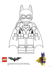 Small Picture Batgirl Lego Batman Movie Coloring pages Printable