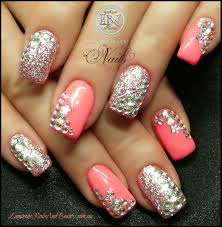 nail art designs with rhinestones