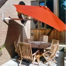 paraflex 2700mm wall mounted round umbrella with side support arm paraflex fabric samson doors