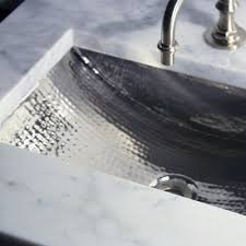 hammered nickel sink. Exellent Nickel 24inch Artisan Hammered Nickel Undermount Bathroom Sink 24 To I