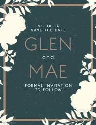 Save The Date Party Template