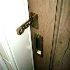 exterior barn door locking hardware round pocket latch oil rub sliding a
