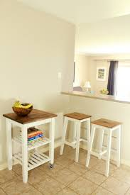 diy ikea bosse stools and bekvÄm kitchen cart