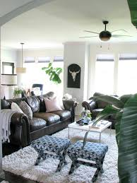 decorating brown leather couches.  Decorating Decorating Around Dark Leather Sofas With Brown Couches B