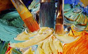 pincel con pintura. subtema pincel con pintura