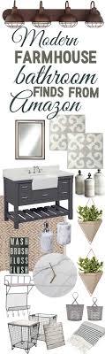farmhouse bathroom ideas. Modern Farmhouse Bathroom Décor Finds From Amazon Ideas