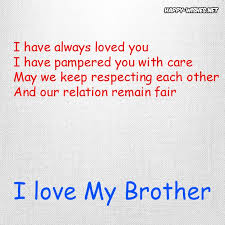 I Love My Brother Quotes Interesting I Love My Brother Quotes [I Love You Brother] Happy Wishes