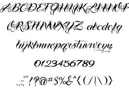 free lettering fonts tattoo design