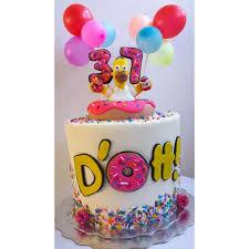Home Simpson Birthday Cake Cake By Jenn Szebeledy