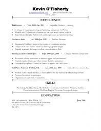 Resume Without Objective Jmckell Com