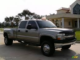 2001 Light Pewter Metallic Chevrolet Silverado 3500 LT Crew Cab ...