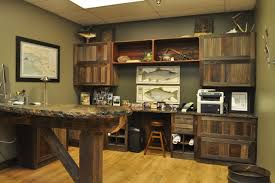 rustic home office