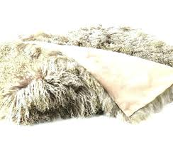 faux mongolian fur rug fur rug sheepskin fleece for dogs lambskin throw blanket in 4 colors