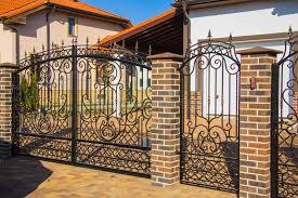luxury wrought iron fence detail stock photo image 46631858