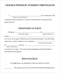 Durable Power Of Attorney Form Best 44 Sample Financial Power Of Attorney Forms Sample Templates