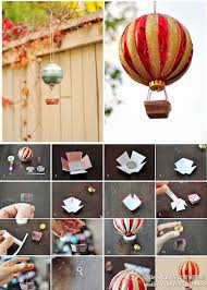 hot air balloon decoration from ornaments