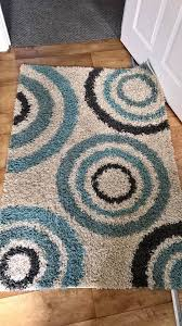teal rug duckegg circles 96 by 136 cm by moda