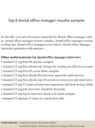 Dental Office Manager Resume Examples Top224dentalofficemanagerresumesamples224conversiongate224thumbnail24jpgcb=1242722452432242 18