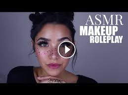 asmr doing your makeup personal attention cottons cream sounds face brushing face touching