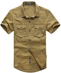 khaki green color. Plain Green Sell Menu0027s Qualify Casual Shirt Short Sleeve Army Jungle Shirts Khaki Green  Color Oversize Button Down Free Shippingin From Clothing  To A