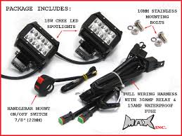 How To Install Led Lights On A Motorcycle Motorcycle Universal 18w Cree Led Spot Driving Lights