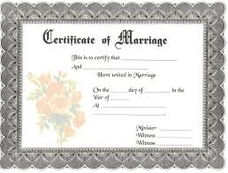 Awesome Collection Of Wedding Certificate Template Word In