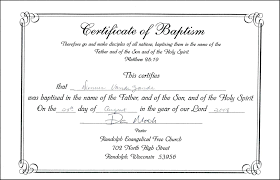 Nice Sample Of Baptismal Certificate Philippines Archives