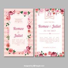 wedding card vectors, photos and psd files free download Wedding Card Vector Graphics Free Download flat wedding invitation with roses Vector Background Free Download
