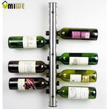 Bar Bottle Display Stand Creative Stainless Steel Wine Rack Holders 100100 Holes Home Bar 55