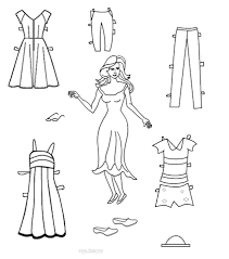 Small Picture Best Paper Doll Clothes Coloring Pages Contemporary New