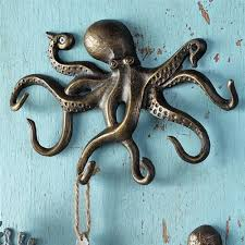 Unique Key Hooks swimming octopus key hook wall hanger coastal nautical sea  llife