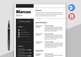 Modern Resume Formatg Modern Resume Template Word Download Maxresumes