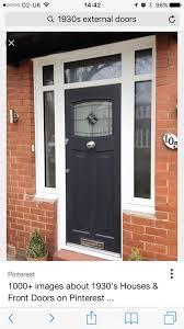 grey front doorGrey front door white windows