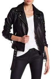 image of 7 for all mankind leather asymmetrical moto jacket