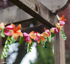 Paper Flower Garlands Spring Paper Flower Garland Lia Griffith