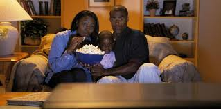 family watching tv. black-family-watching-tv family watching tv 7